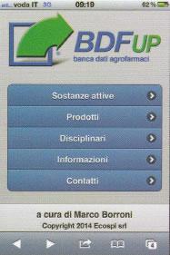 Banche dati agrofarmaci BDF